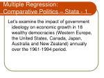 multiple regression comparative politics stata 1