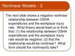 nonlinear models 2