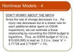 nonlinear models 4