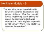 nonlinear models 5