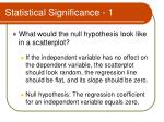 statistical significance 1