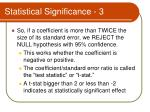 statistical significance 3