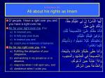 in sermon 34 ali about his rights as imam