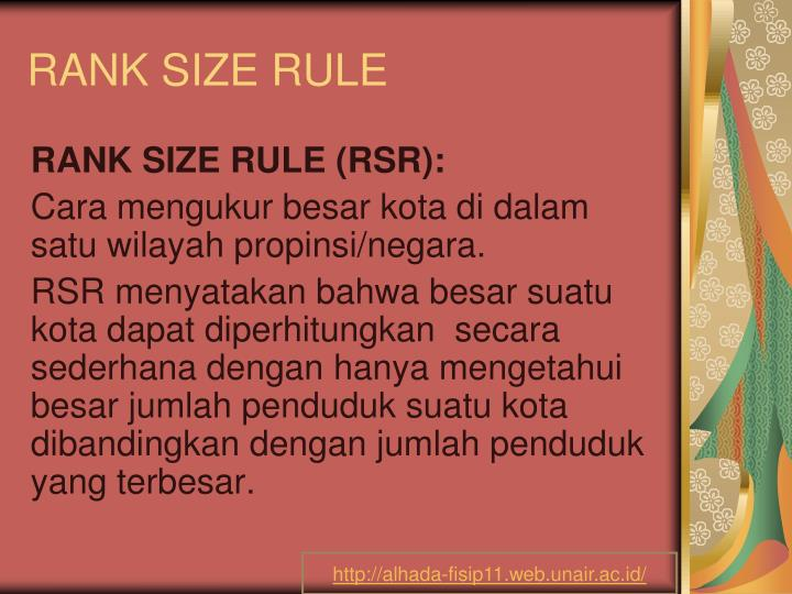 rank size rule n.