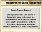 measures of sales response