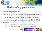 outline of my presentation
