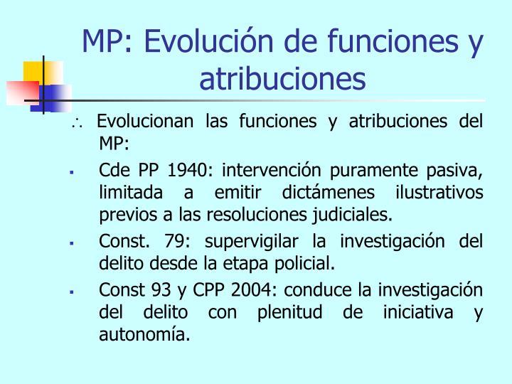 MP: Evolución de funciones y atribuciones