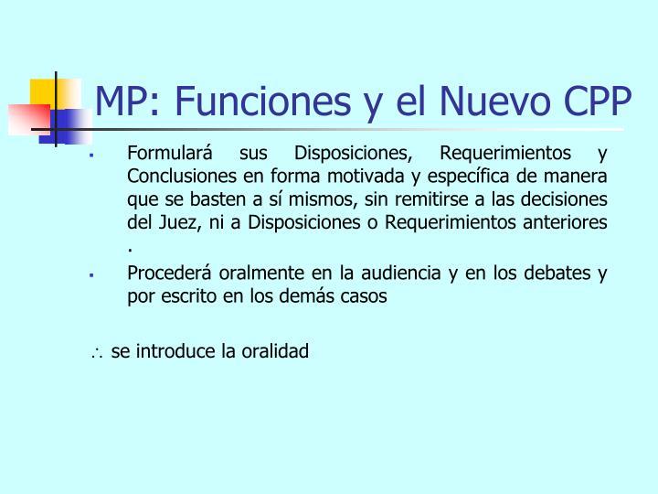 MP: Funciones y el Nuevo CPP