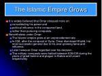 the islamic empire grows