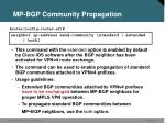 mp bgp community propagation