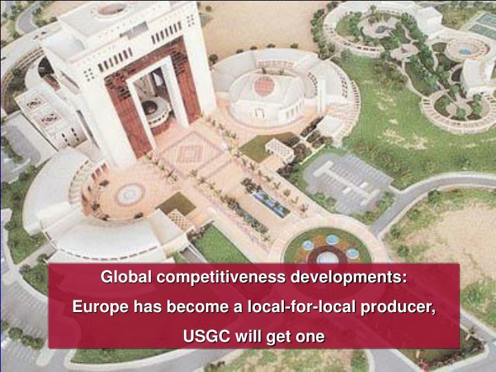 Global competitiveness developments: