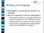 writing your language