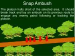 snap ambush