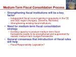 medium term fiscal consolidation process