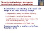 strong budget institutions increase the probability of successful consolidation
