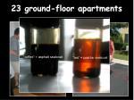 23 ground floor apartments