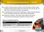 oferta comercial expositores i stands