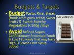 budgets targets