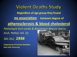 violent deaths study