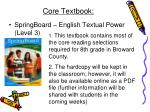 core textbook