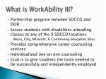 what is workability iii