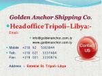 golden anchor shipping co