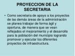 proyeccion de la secretaria