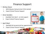 finance support