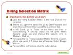 hiring selection matrix1