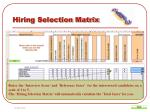 hiring selection matrix11