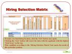 hiring selection matrix13