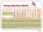 hiring selection matrix4