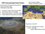 csp concentrated solar power