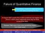 failure of quantitative finance