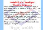 installation of intelligent electronic meters