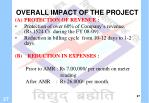 overall impact of the project