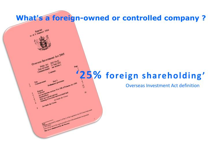 What's a foreign-owned or controlled company ?