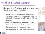 health and medical research