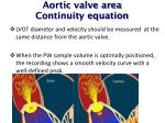 aortic valve area continuity equation1