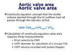 aortic valve area