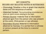 key concepts record any bulleted notes in notebooks
