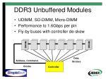 ddr3 unbuffered modules