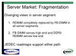 server market fragmentation