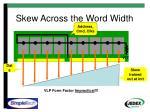 skew across the word width