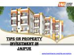 tips on property investment in jaipur