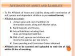 affidavit of asset and liability