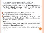 election expenditure case law
