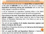 expenditure monitoring cell emc