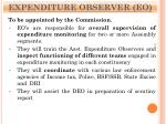 expenditure observer eo