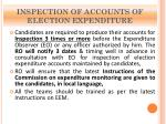 inspection of accounts of election expenditure